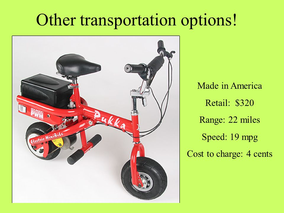 Other transportation options.