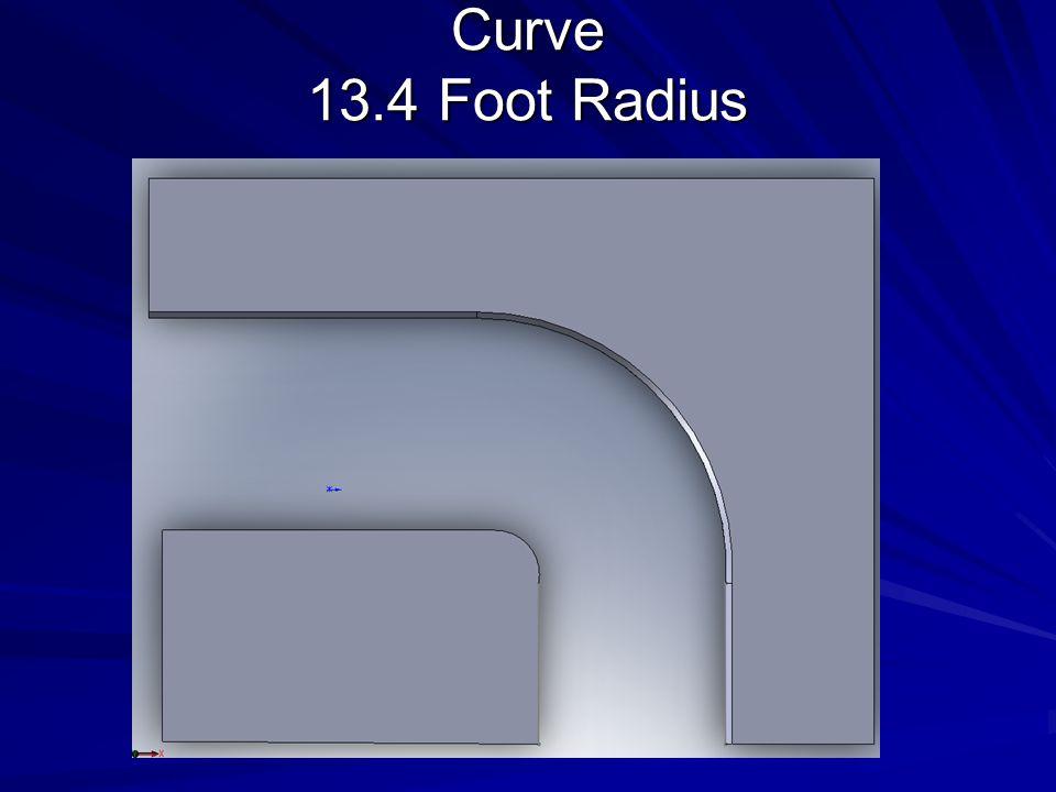 Curve 13.4 Foot Radius