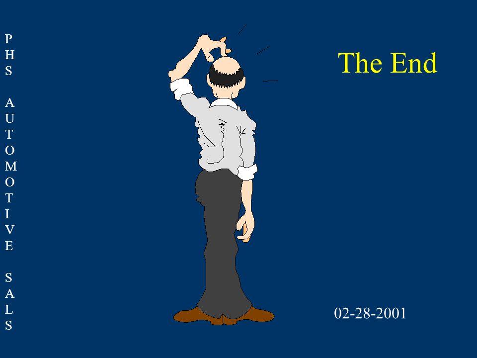 PHSAUTOMOTIVESALSPHSAUTOMOTIVESALS The End 02-28-2001