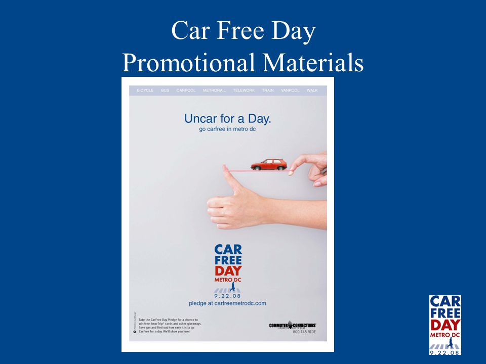 Car Free Day Promotional Materials