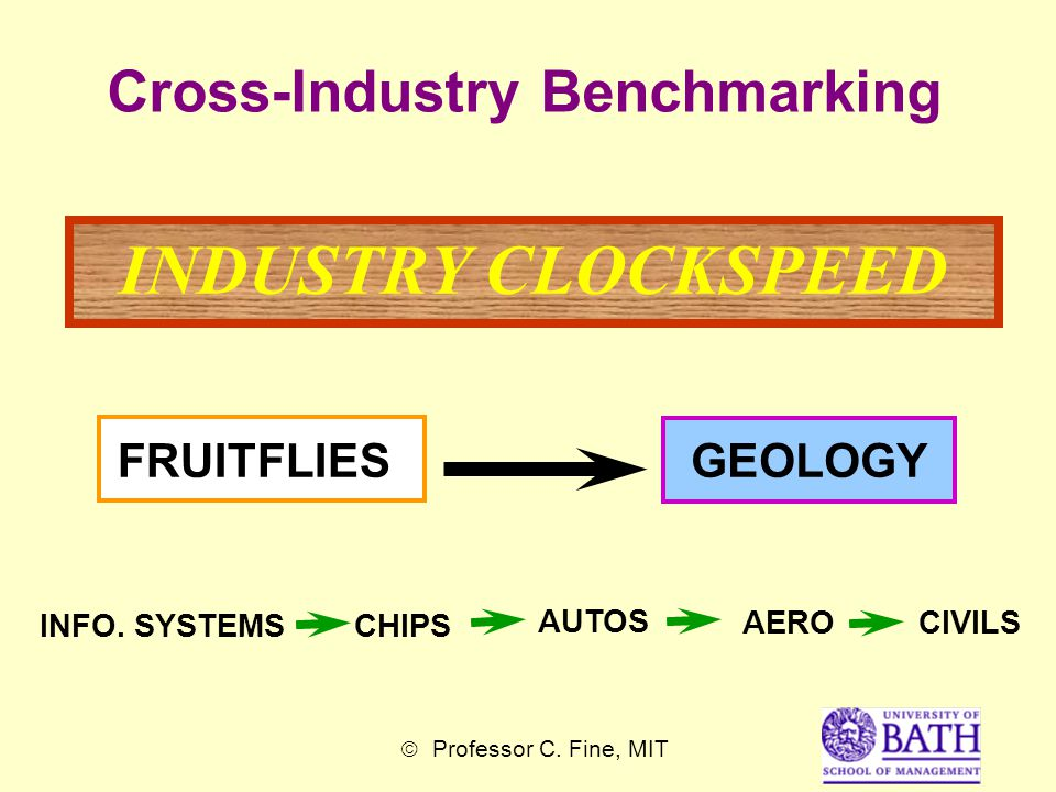 Cross-Industry Benchmarking INDUSTRY CLOCKSPEED FRUITFLIES INFO.