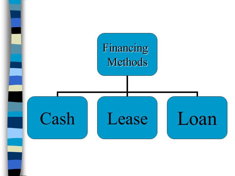 FinancingMethods CashLeaseLoan