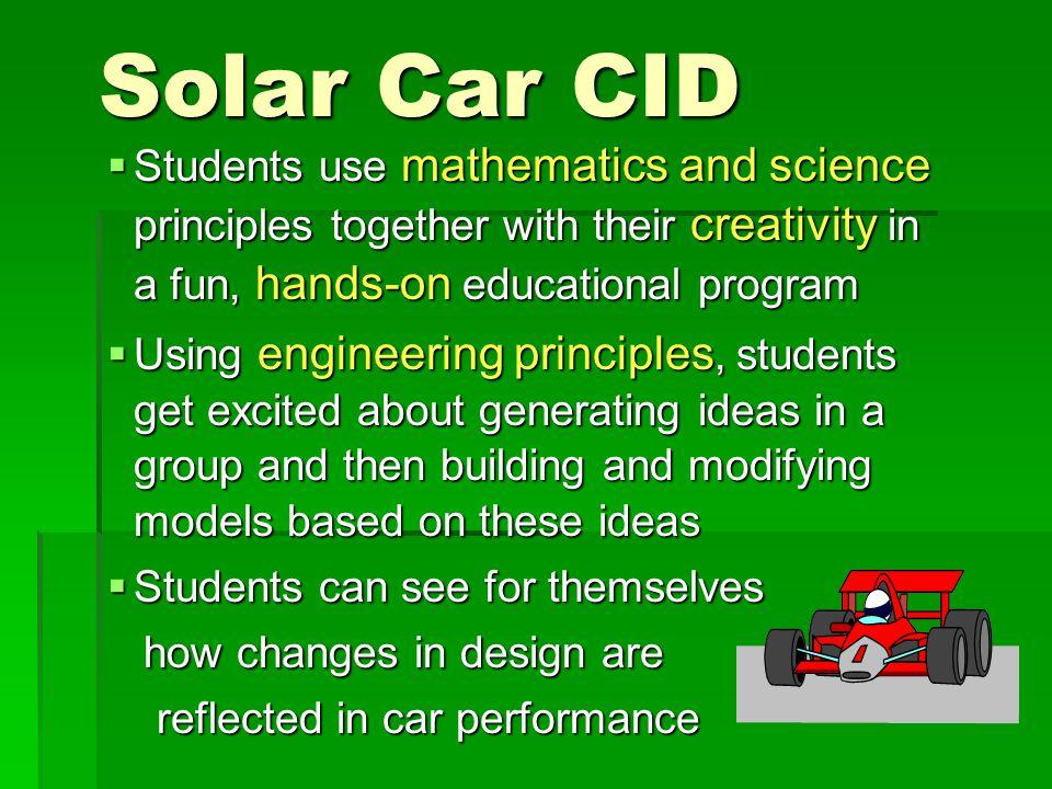 Some solar cars