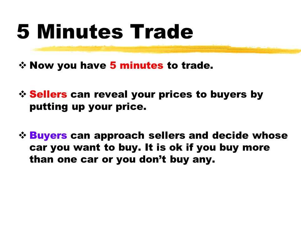 5 Minutes Trade Now you have 5 minutes to trade.