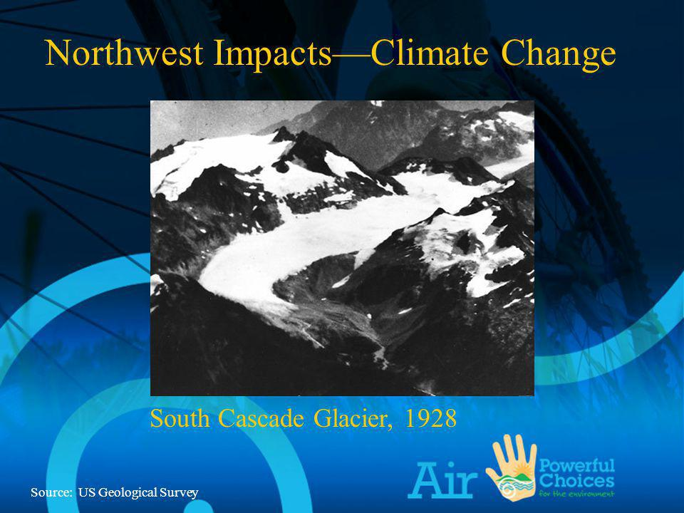 South Cascade Glacier, 1928 Northwest ImpactsClimate Change South Cascade Glacier, 1928 Source: US Geological Survey