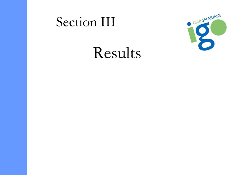 Section III Results