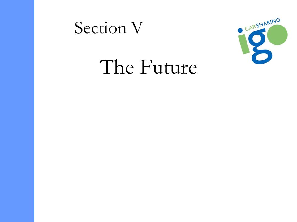 Section V The Future