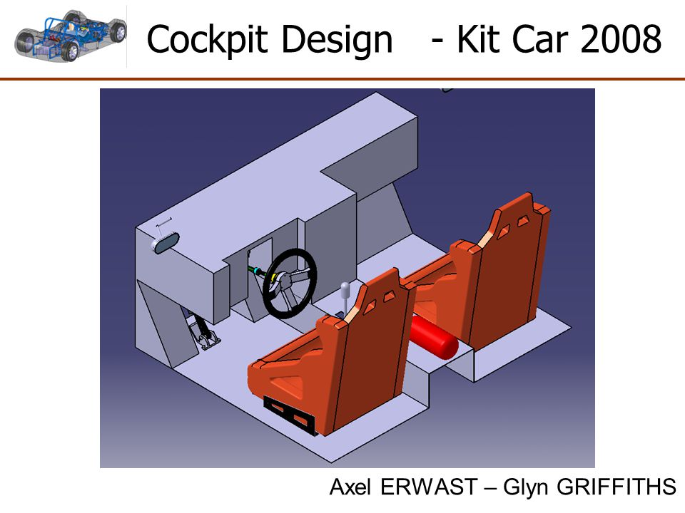 Tasks Completed 1)Seat Assembly 2) Safety Equipment 2) Selection of brake / throttle pedal