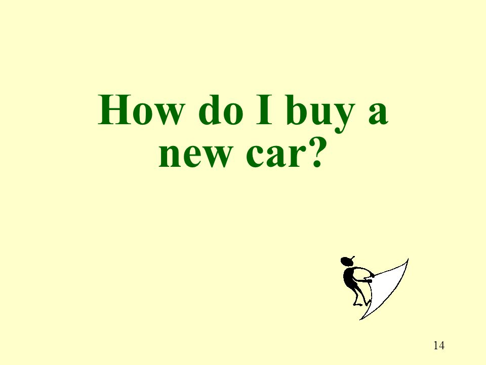 14 How do I buy a new car