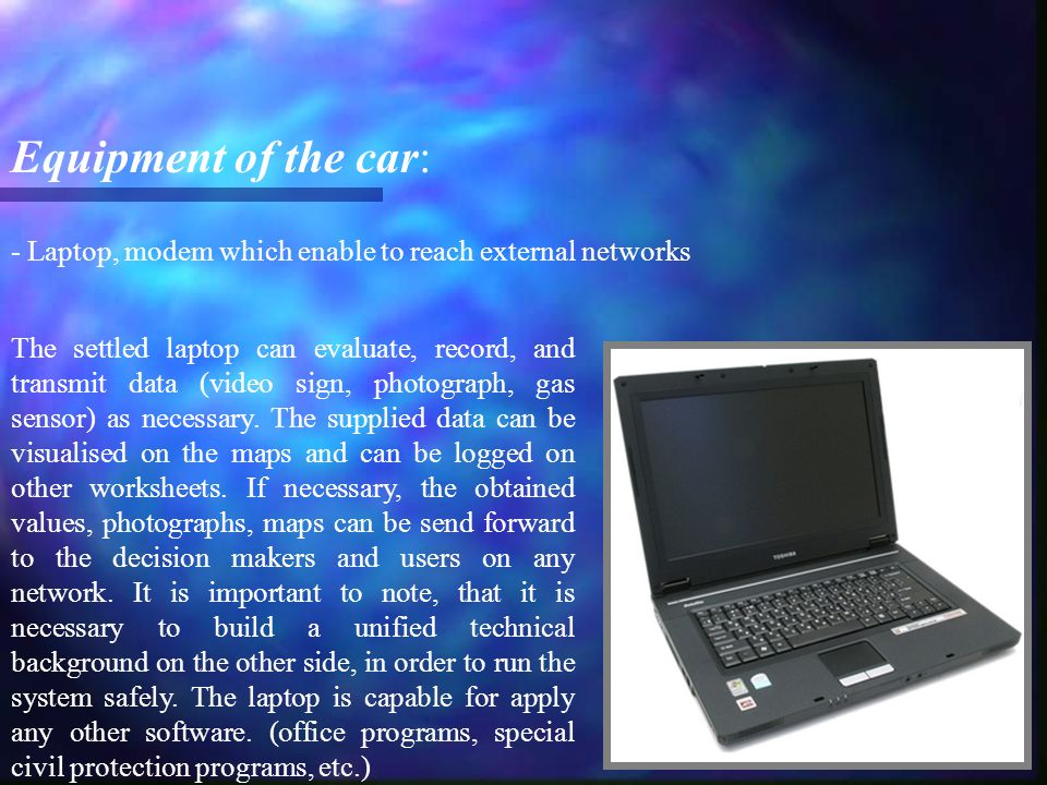 - USW radio Equipment of the car: