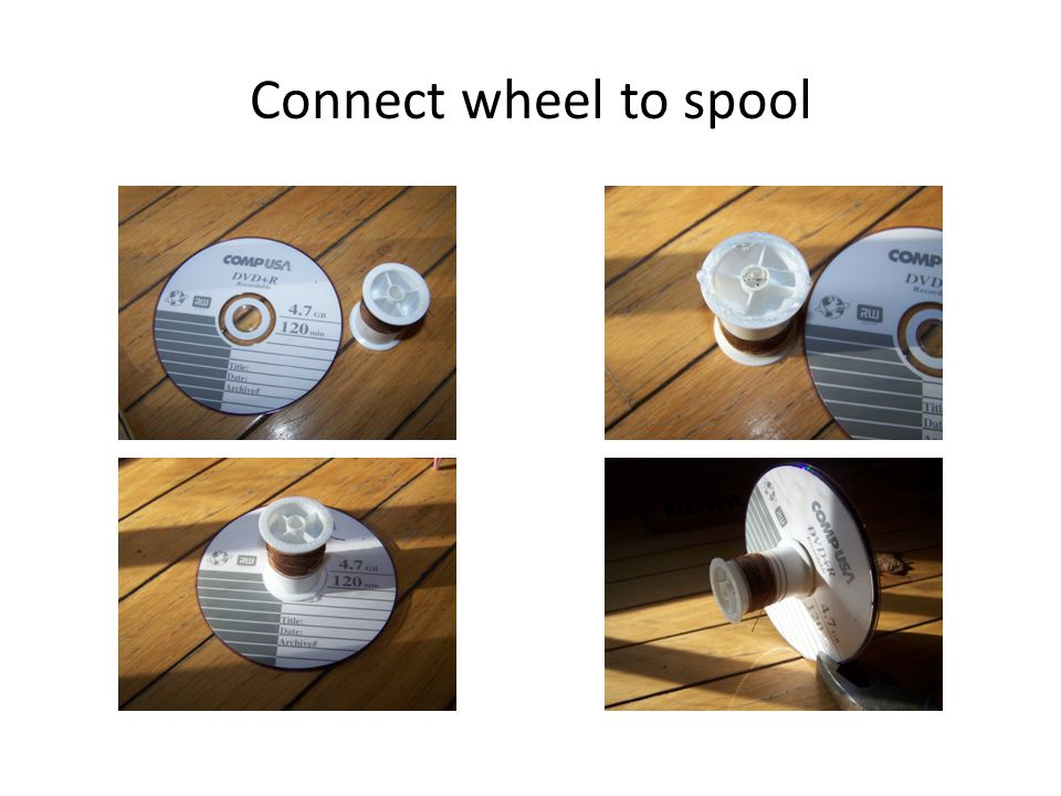 Connect wheel to spool