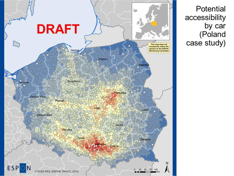 Potential accessibility by car (Poland case study) DRAFT