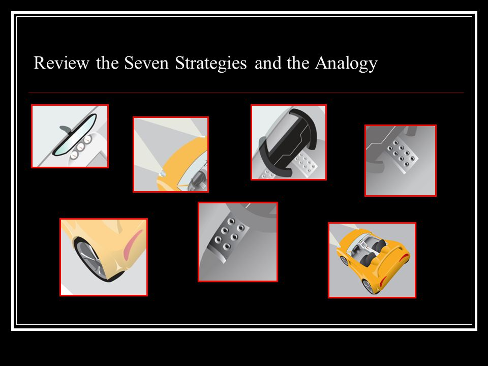 Review the Seven Strategies and the Analogy