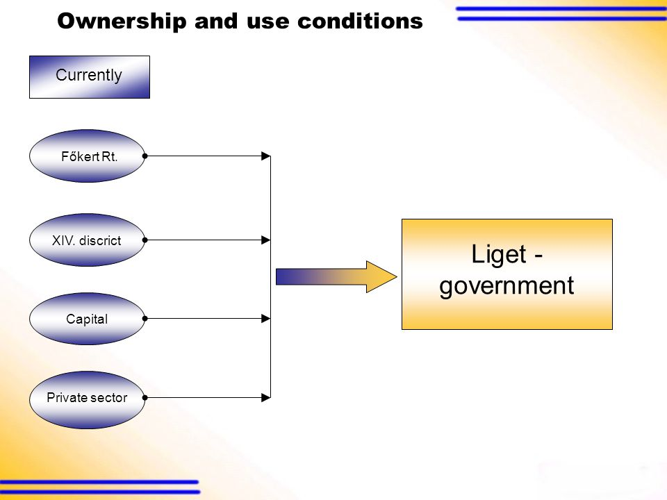 Ownership and use conditions Currently Főkert Rt. Private sector Capital XIV.