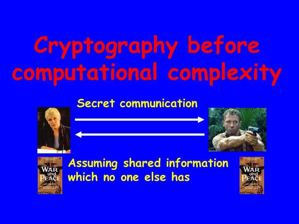Public-key encryption E-commerce security Personal Digital envelope xE (x) Easy for everyone I want to purchase War and Peace.