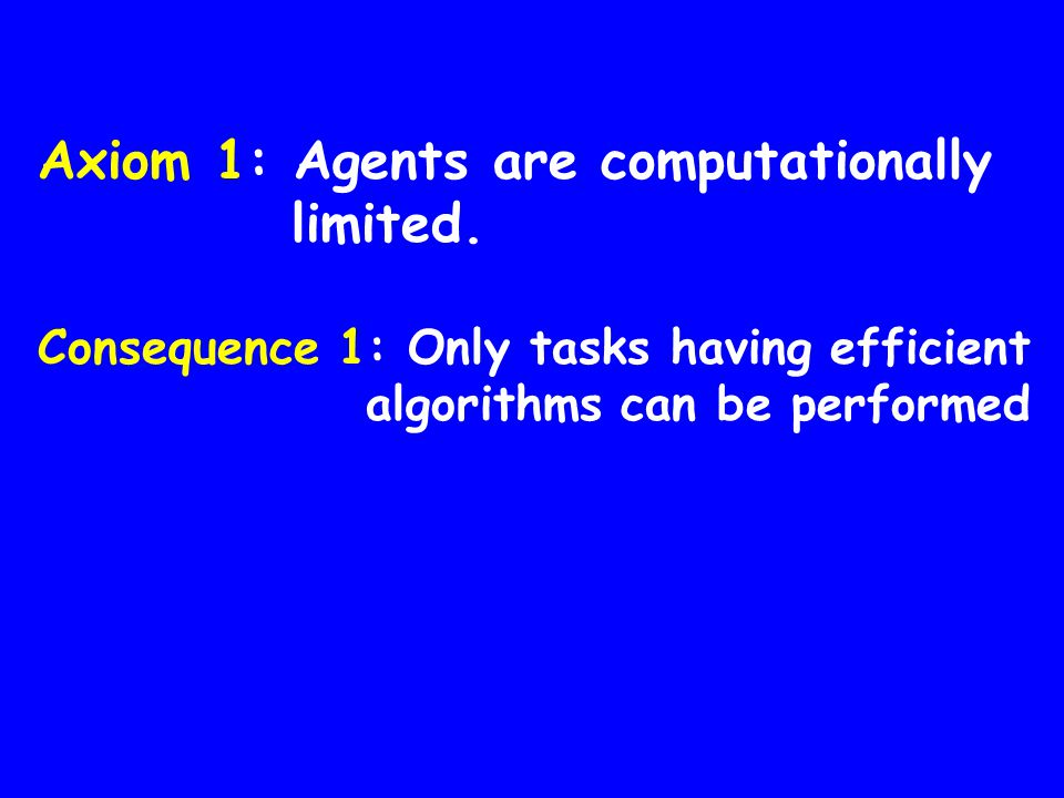 a Alice b Bob AND 0 01 0 01 0 1 Possible with personal Axiom 2: Factoring is hard AND is universal Computing with envelopes I