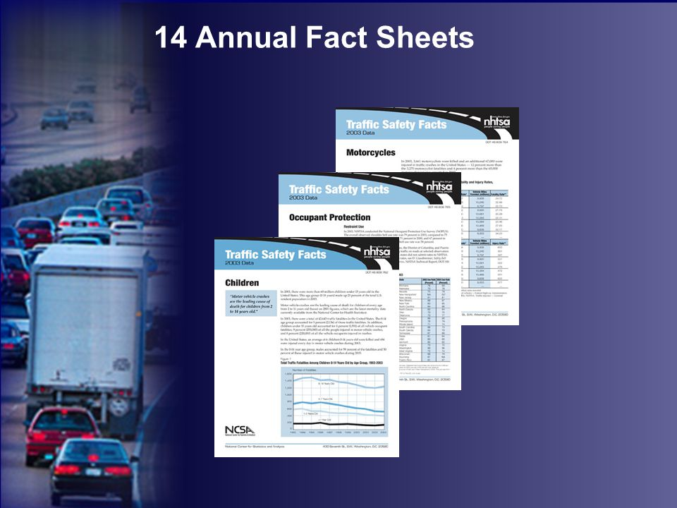 14 Annual Fact Sheets