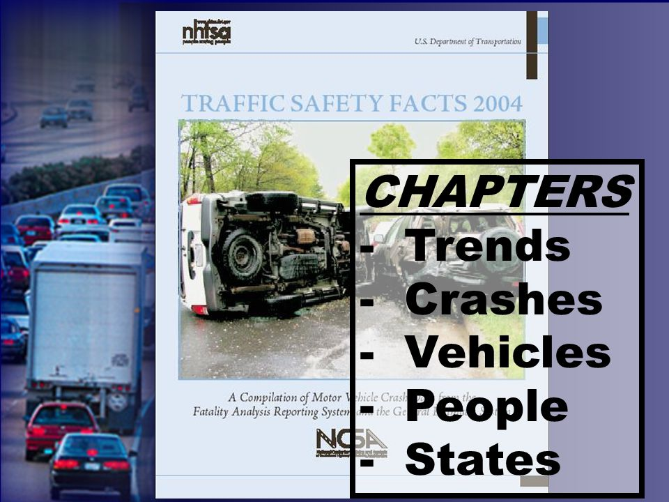 CHAPTERS - Trends - Crashes - Vehicles - People - States