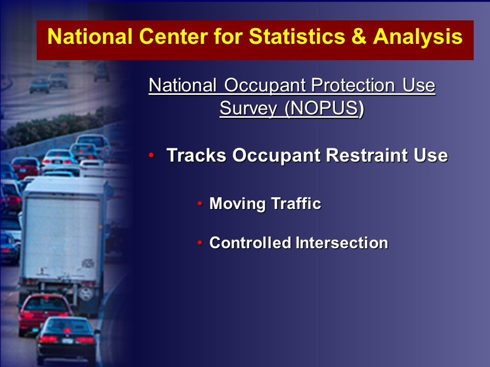 01 Driver 02 Passenger 03 Occupant of MV not in Transport 04 Occupant of non-MV Transport Device 05 Pedestrian 06 Bicyclist 07 Other Cyclist 08 Other Pedestrians 09 Unknown Occupant 19 Unknown Type of non-Motorist MOTOR VEHICLE OCCUPANTS PERSON TYPE