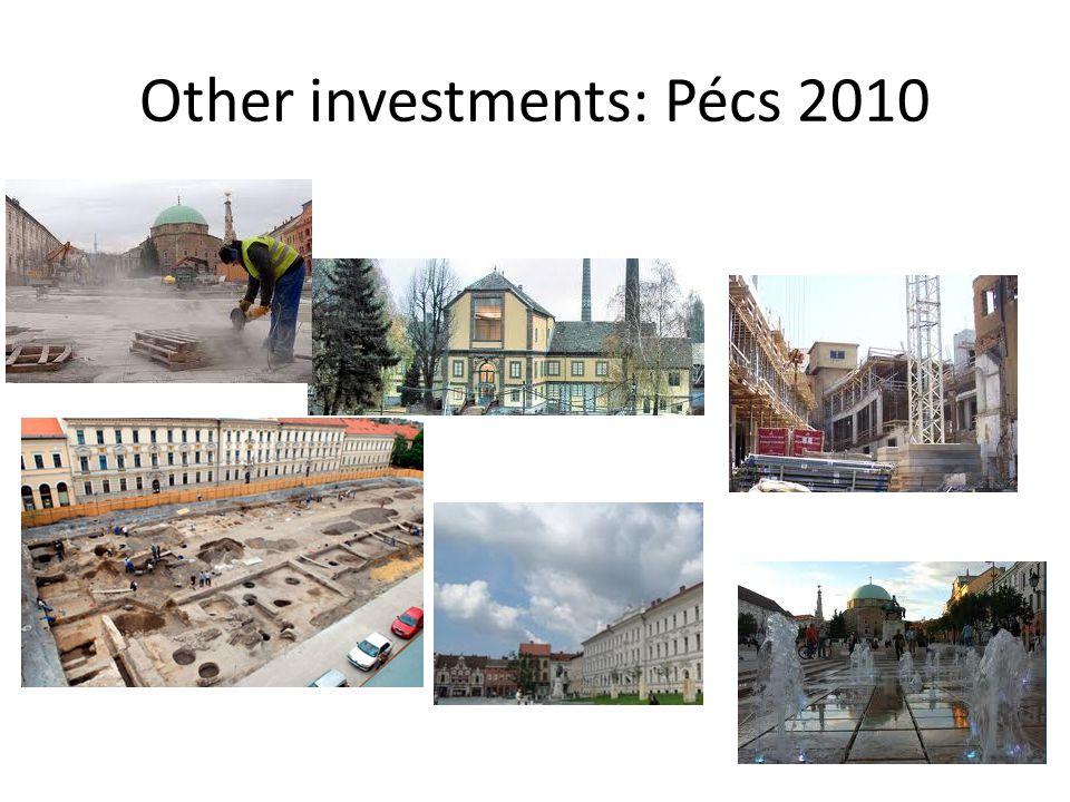 Other investments: Pécs 2010