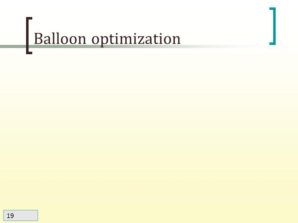 19 Balloon optimization