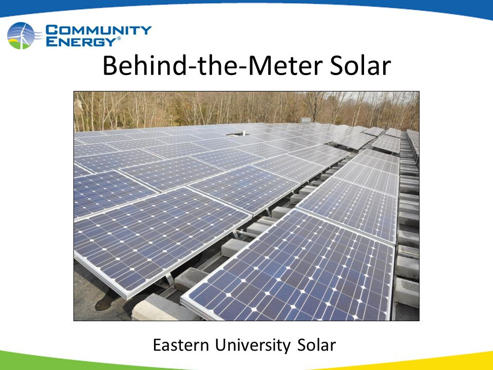 Behind-the-Meter Solar Eastern University Solar