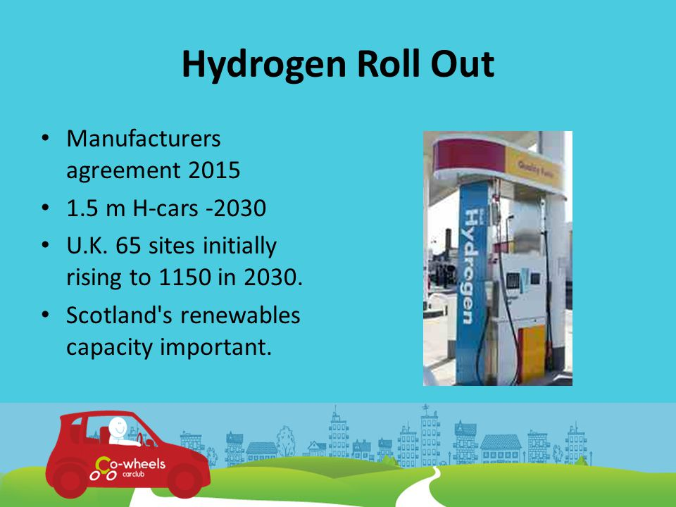 Co-wheels Hydrogen Club Cars In partnership with Aberdeen City Council.