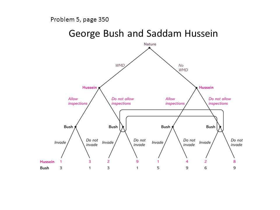 Problem 5, page 350 George Bush and Saddam Hussein