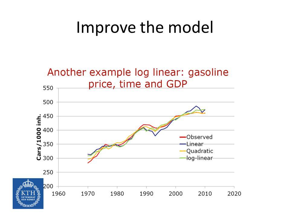 Improve the model