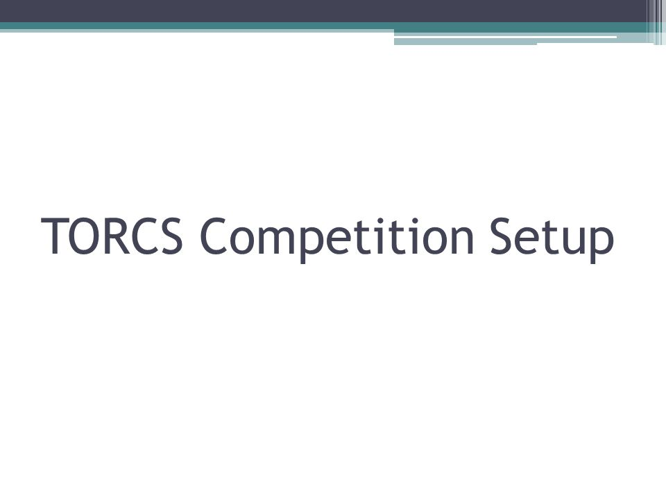 TORCS Competition Setup