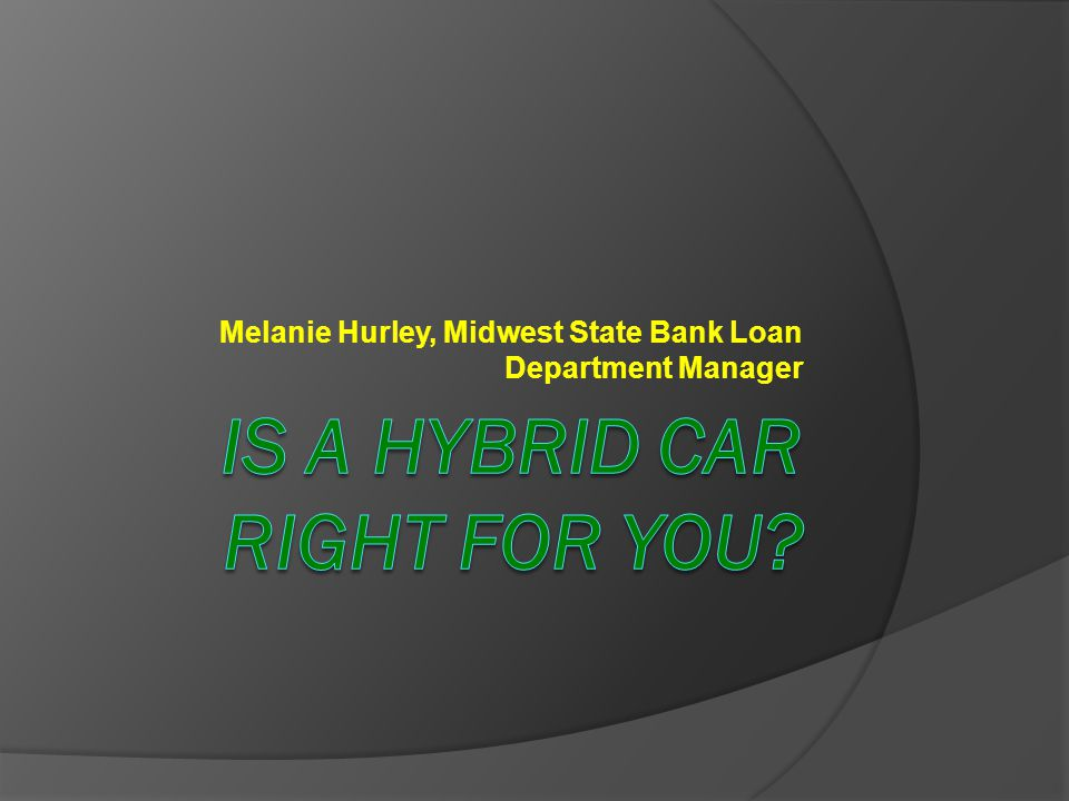 Melanie Hurley, Midwest State Bank Loan Department Manager