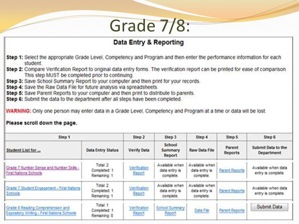 Grade 7/8: