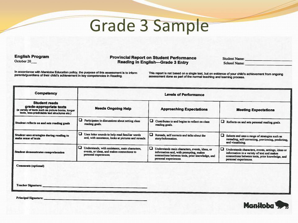 Grade 3 Sample