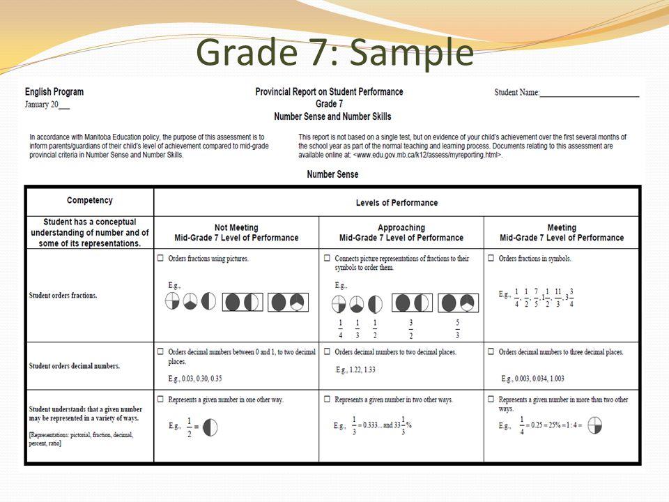 Grade 7: Sample
