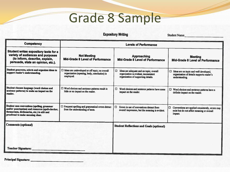 Grade 8 Sample