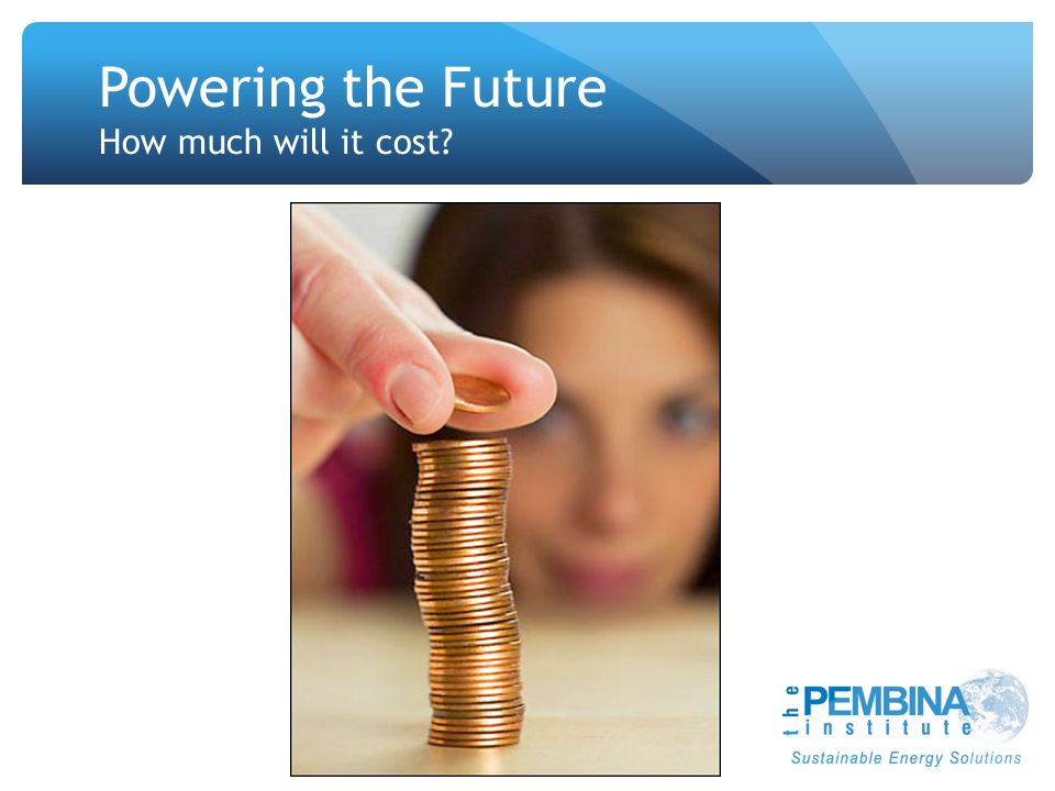 Powering the Future How much will it cost
