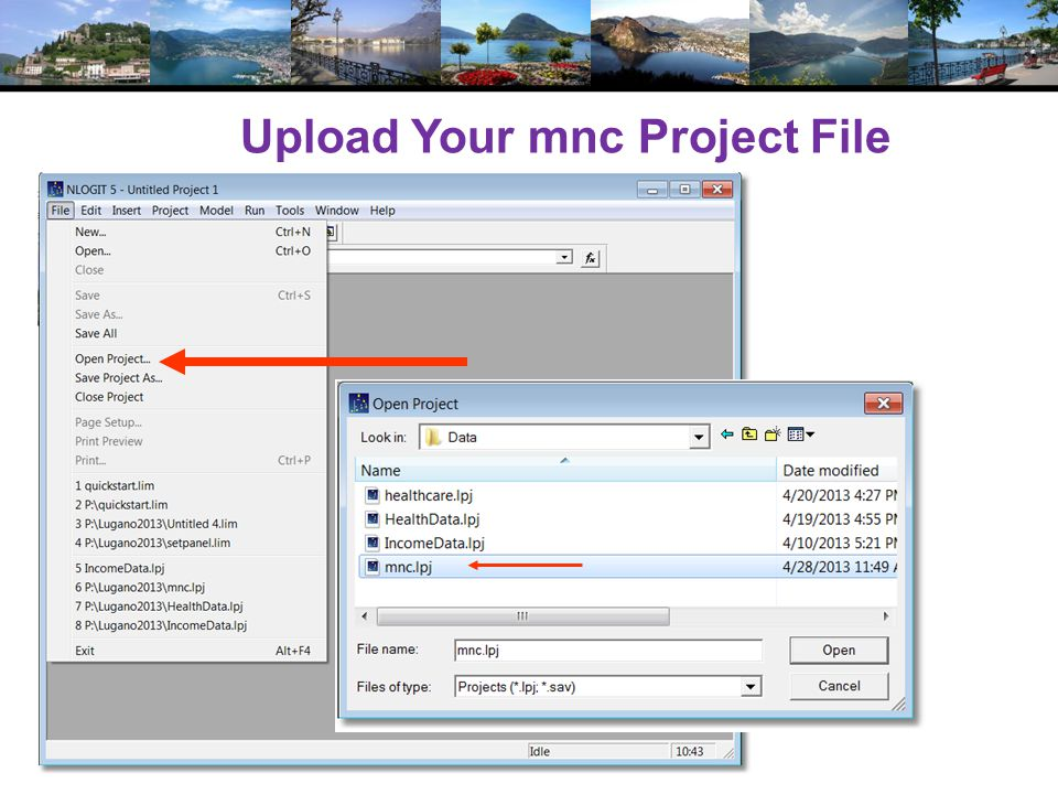 Upload Your mnc Project File