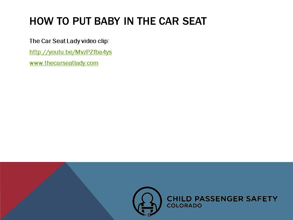 HOW TO PUT BABY IN THE CAR SEAT The Car Seat Lady video clip: