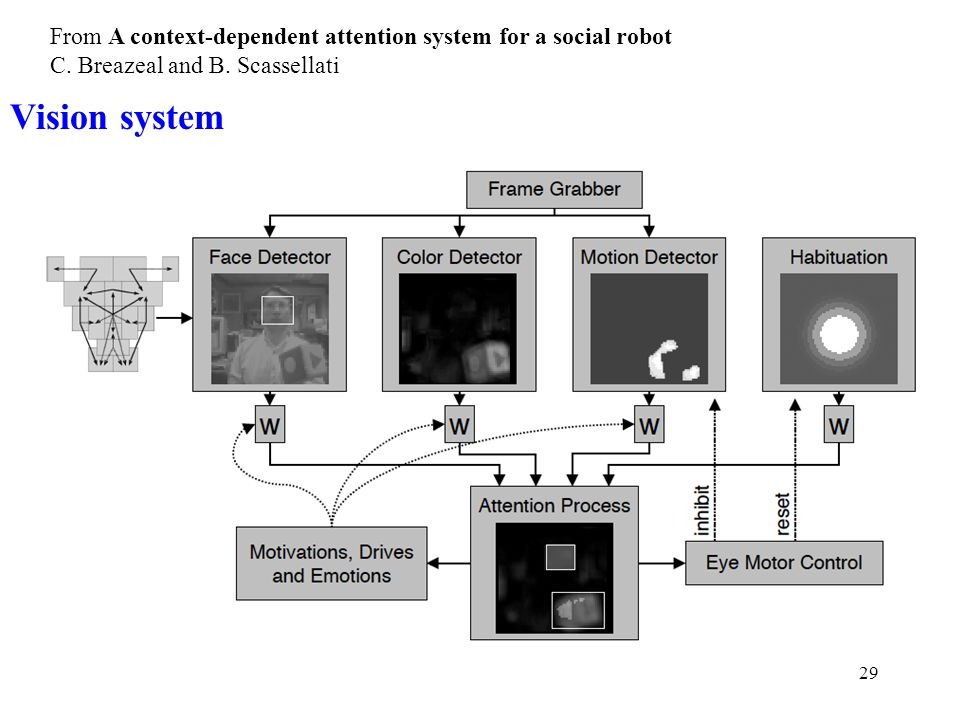 29 From A context-dependent attention system for a social robot C.