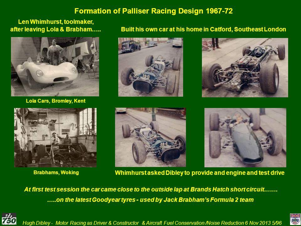 Hugh Dibley - Motor Racing as Driver & Constructor & Aircraft Fuel Conservation /Noise Reduction 6 Nov 2013 76/96 6.