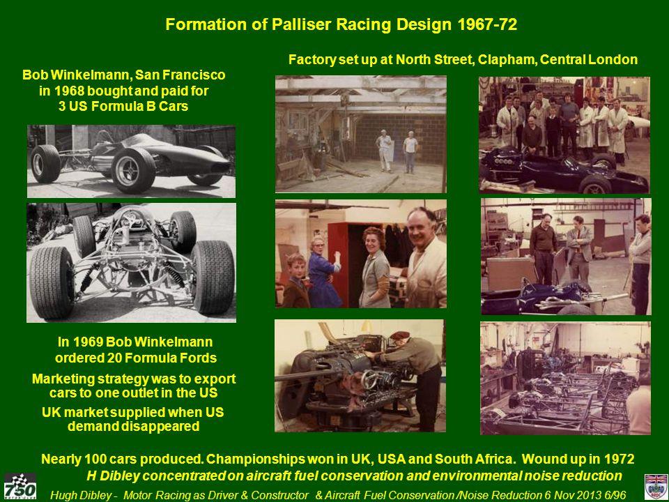 Hugh Dibley - Motor Racing as Driver & Constructor & Aircraft Fuel Conservation /Noise Reduction 6 Nov 2013 47/96 1968 Drove Howmet TX Gas Turbine Sports Racing Car at BOAC 500 Brands Hatch, Oulton Park, Watkins Glenn Le Mans