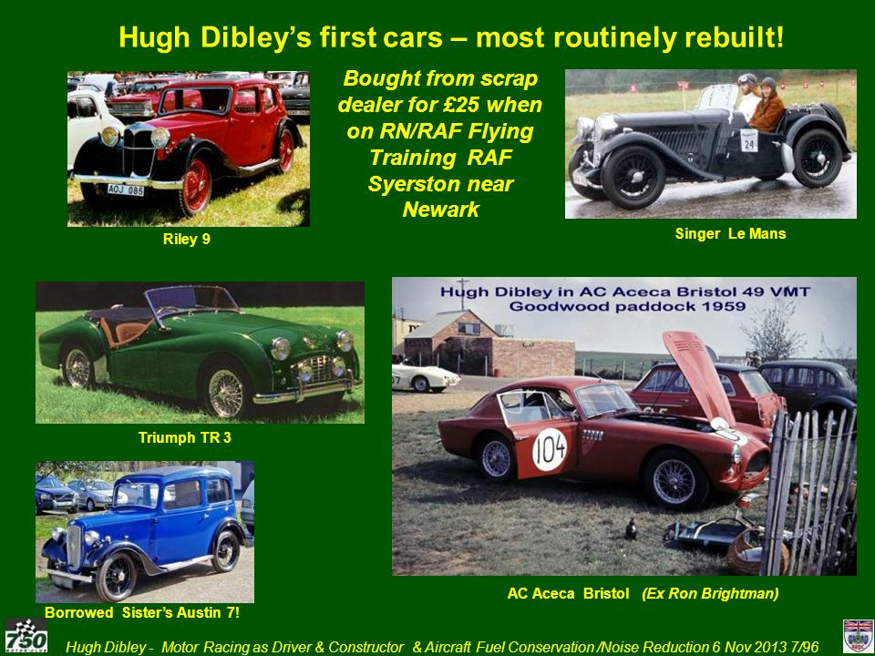 Hugh Dibley - Motor Racing as Driver & Constructor & Aircraft Fuel Conservation /Noise Reduction 6 Nov 2013 28/96 August 1965 Guards Trophy Brand Hatch – Bottom Bend