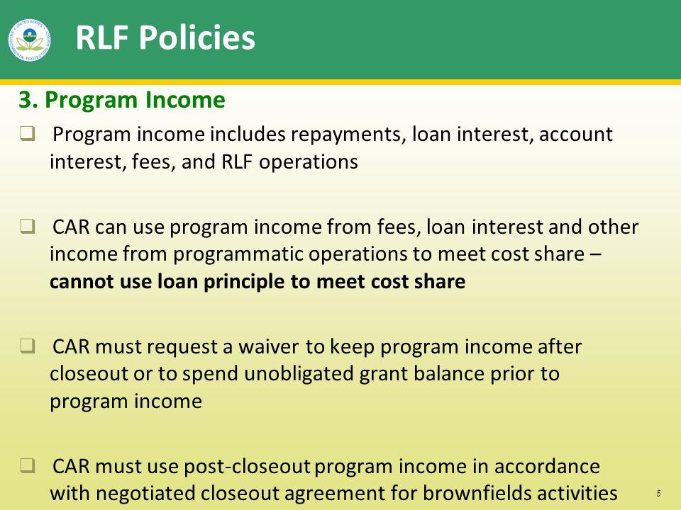 5 RLF Policies 3.