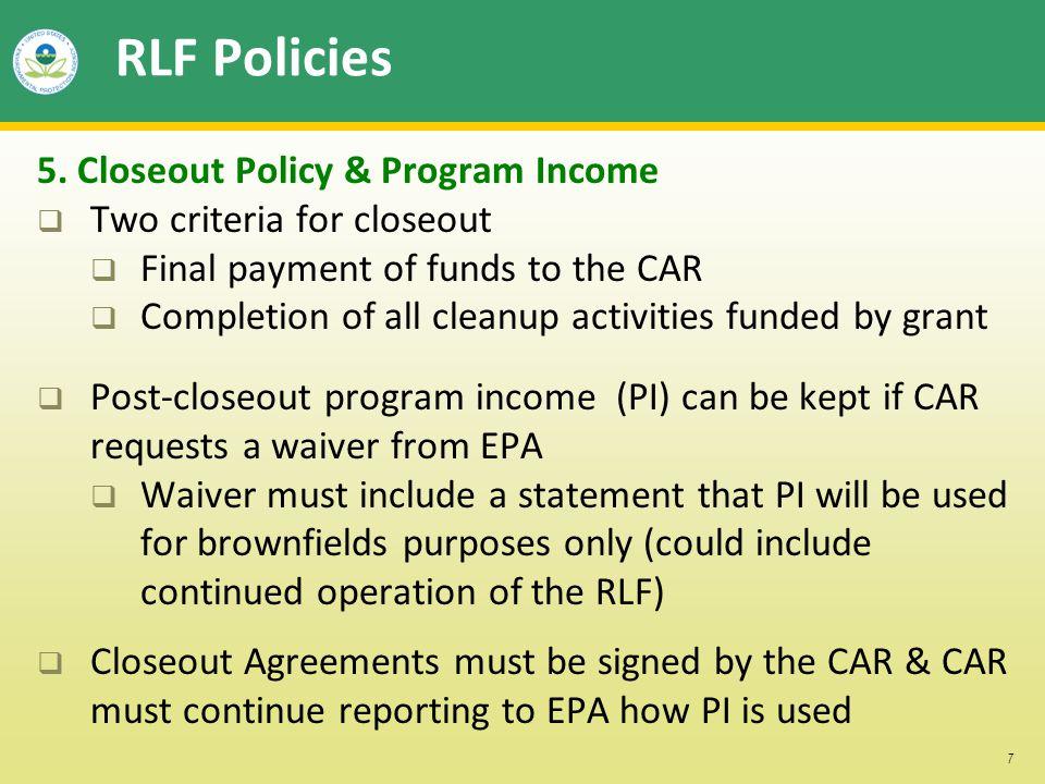 7 RLF Policies 5.