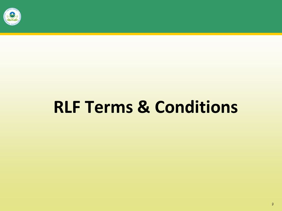 9 RLF Terms & Conditions
