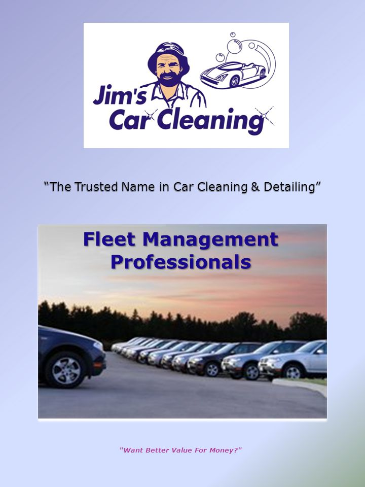 The Trusted Name in Car Cleaning & Detailing