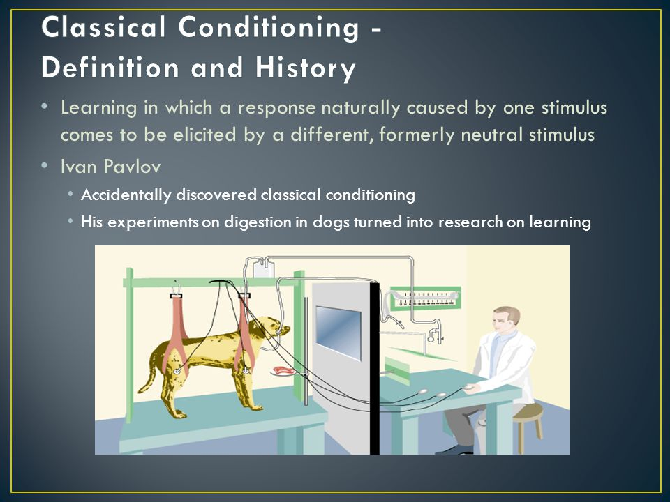 It was once believed that conditioning occurred the same in all animals (and therefore you could study human behavior by studying any animal) and that you could associate any neutral stimulus with a response.