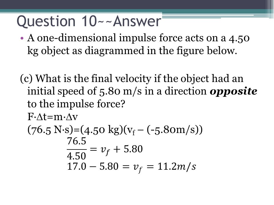 Question 10~~Answer