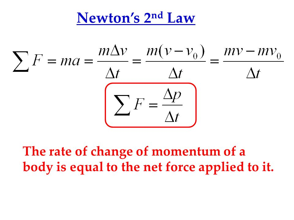 LAW OF CONSERVATION OF MOMENTUM The total momentum of an isolated system of bodies remains constant.