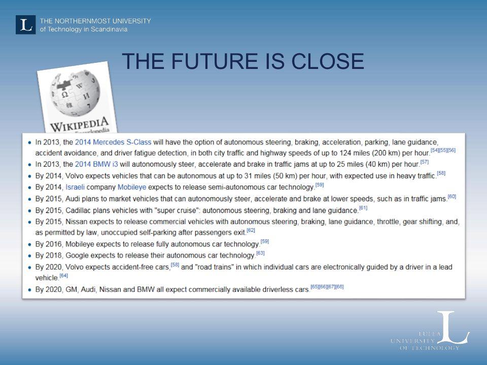 THE FUTURE IS CLOSE